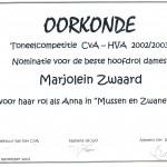 Mussen en Zwanen 2 nominatie beste hoofdrol dames